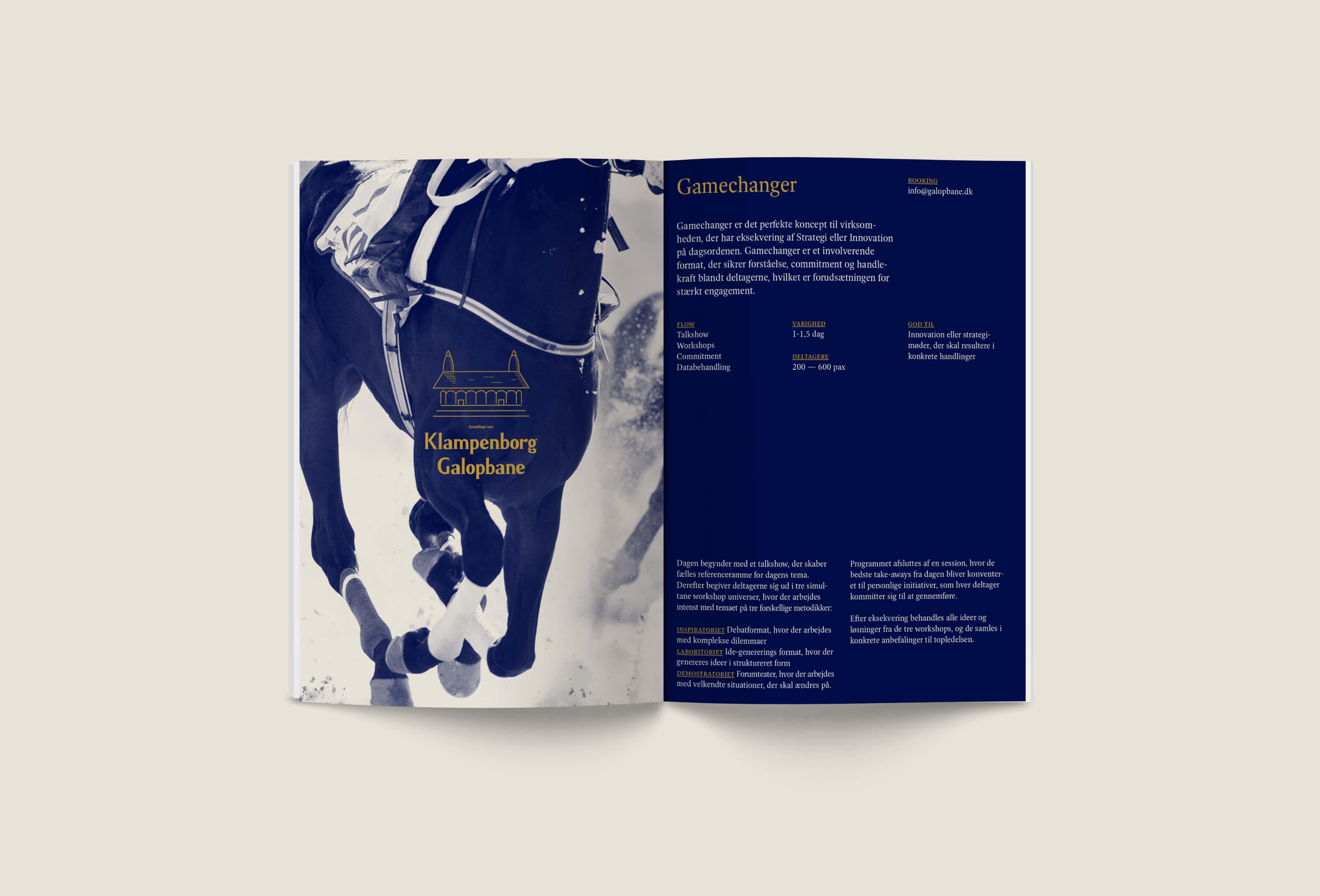 08 Klampenborg Galopbane Brand Design Identity Brochure Print