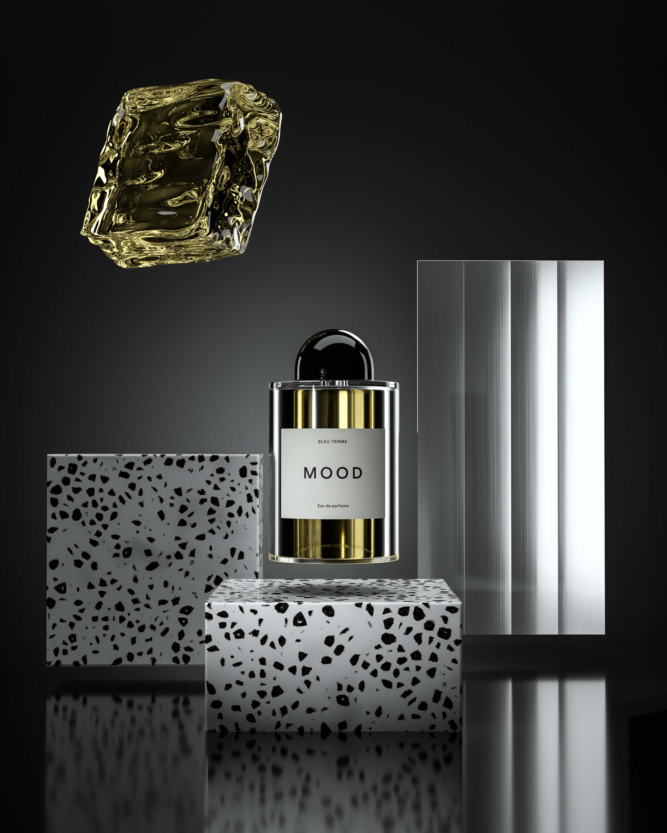 3d product photography Perfume Scene 02