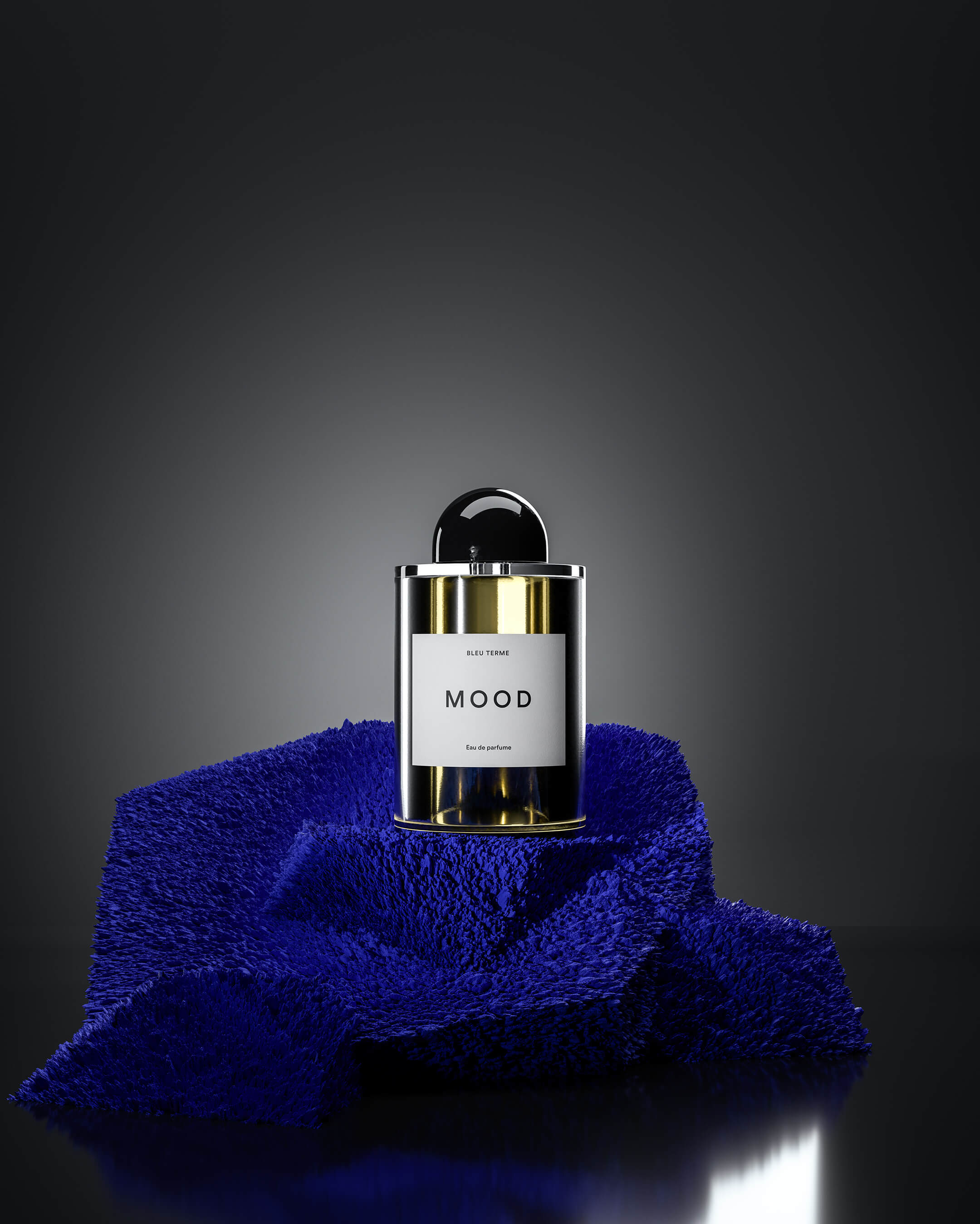 3d product photography Perfume Scene Half